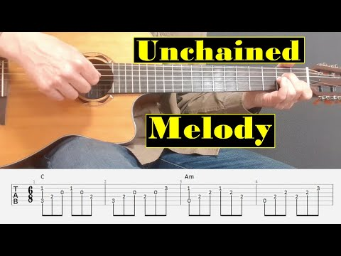 Unchained Melody - Righteous Brothers - Easy Fingerstyle guitar with tabs