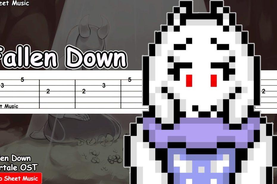 Undertale - Fallen Down (Reprise) Guitar Tutorial