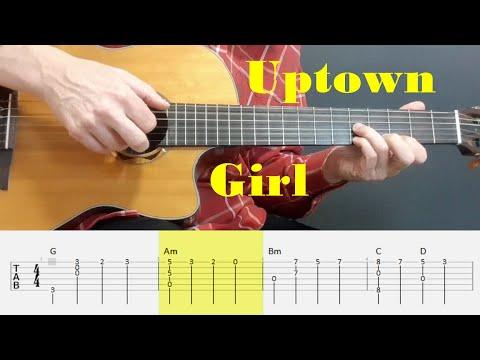 Uptown Girl - Billy Joel - Fingerstyle Guitar Tutorial Tab