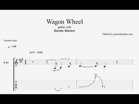 Wagon Wheel solo TAB - country guitar solo tabs (Guitar Pro)