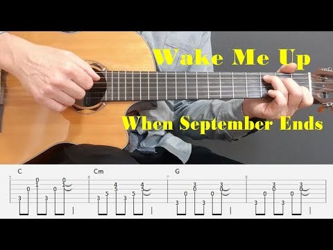 Wake Me Up When September Ends - Green Day - Fingerstyle guitar with tabs