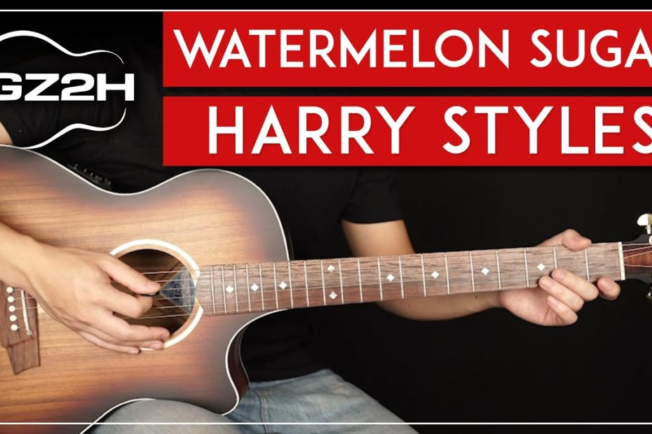 Watermelon Sugar Guitar Tutorial   Harry Styles Guitar Lesson |Easy Chords + No Capo|