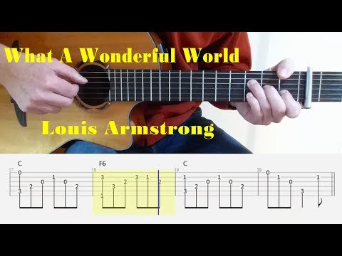 What A Wonderful World - Louis Armstrong - Fingerstyle guitar with tabs