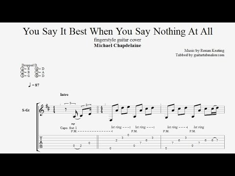 When You Say Nothing At All TAB - fingerstyle guitar tabs (PDF + Guitar Pro)