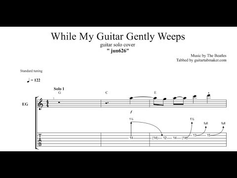 While My Guitar Gently Weeps solo TAB - guitar solo tabs (Guitar Pro)