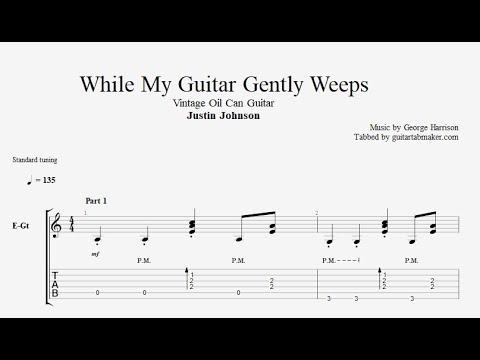 While My Guitar Gently Weeps TAB - intermediate fingerstyle guitar tabs (PDF + Guitar Pro)