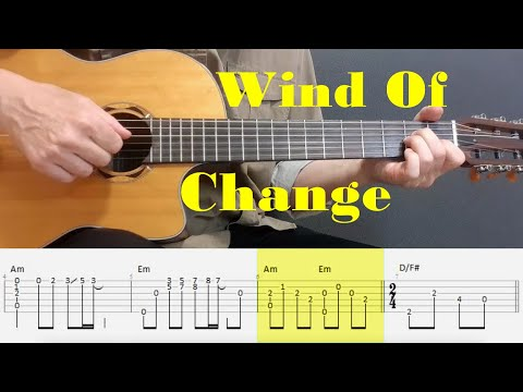 Wind Of Change - Scorpions - Fingerstyle guitar with tabs