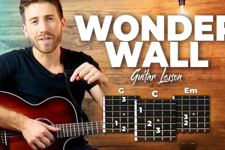Wonderwall Guitar Tutorial (Oasis) Easy Chords Guitar Lesson