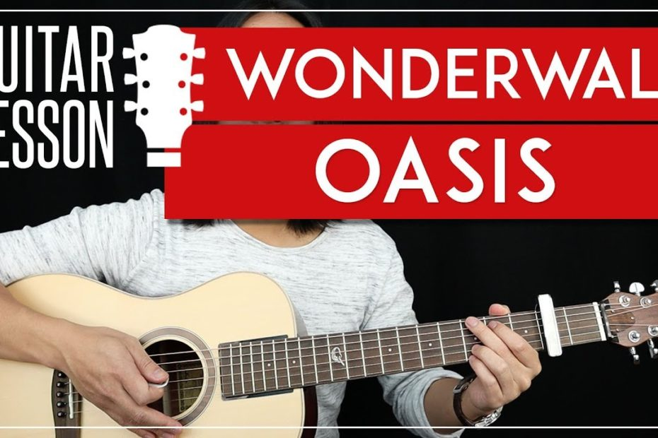 Wonderwall Guitar Tutorial - Oasis Guitar Lesson   |Easy Chords + Guitar Cover|