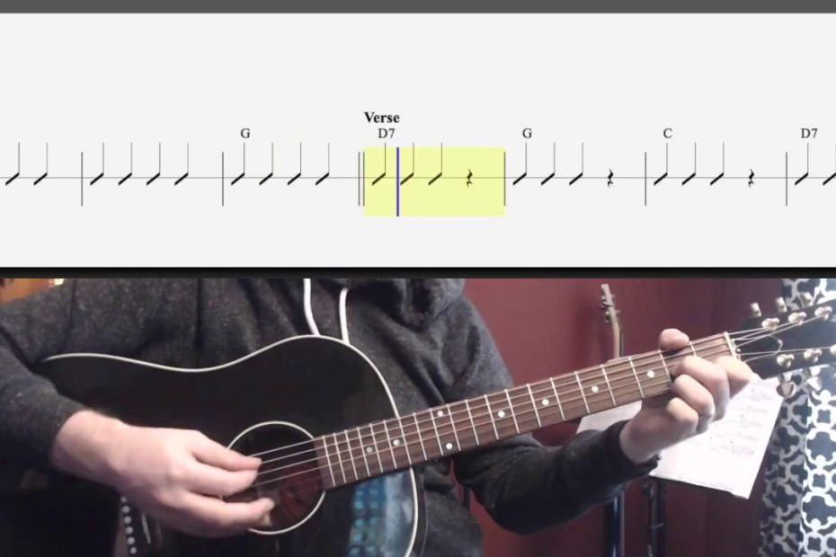 Yellow Submarine (Easy Chords and Strumming) Watch and Learn Guitar Lesson for Kids to Pre-teen.