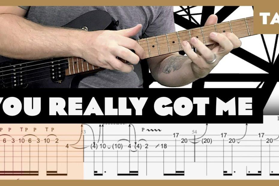 You Really Got Me Van Halen Cover | Guitar Tab | Lesson | Tutorial