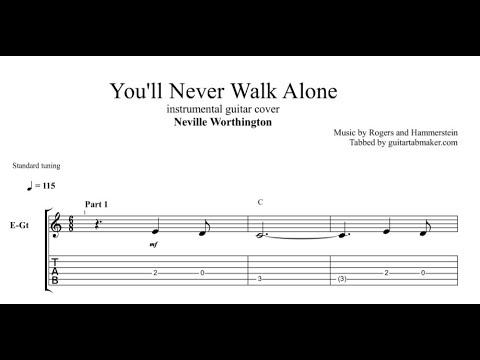 You Will Never Walk Alone TAB - guitar instrumental tab (PDF + Guitar Pro)