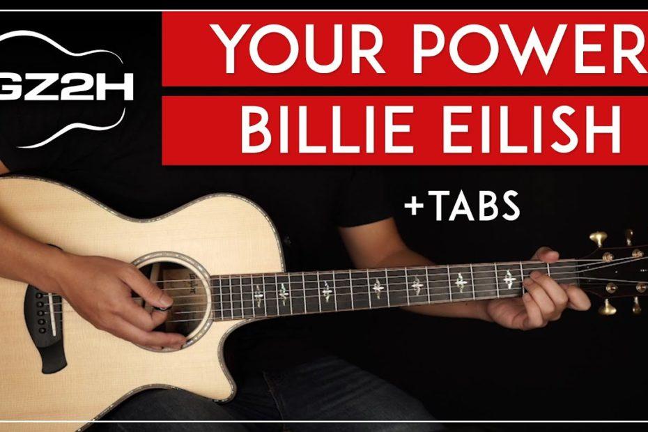 Your Power Guitar Tutorial Billie Eilish Guitar Lesson  Easy Chords 
