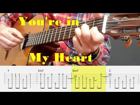 You're In My Heart - Rod Stewart - Fingerstyle Guitar Tutorial Tab