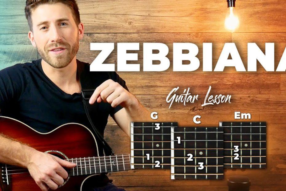 Zebbiana - Skusta Clee - Guitar Tutorial (Lesson) For Beginners // Plucking + Easy Chords